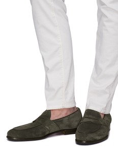 Santoni Suede penny loafers