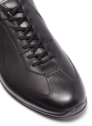 Detail View - Click To Enlarge - Santoni - Panelled leather driving sneakers