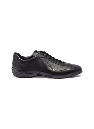 Main View - Click To Enlarge - Santoni - Panelled leather driving sneakers