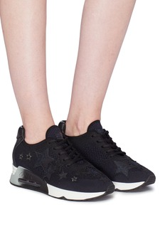 Ash 'Lucky Star' appliqué mixed knit sneakers