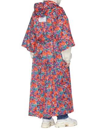 - Vetements - Belted floral print hooded oversized unisex kimono coat
