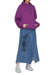 Vetements Logo print patchwork denim skirt