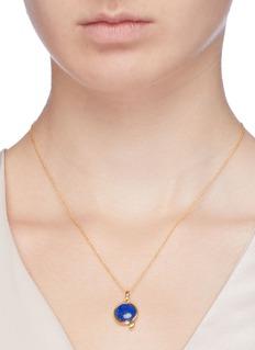 HYÈRES LOR 'Penny d'Or' lapis lazuli pendant necklace
