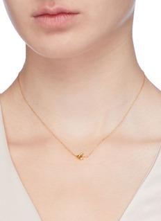 HYÈRES LOR 'Colombe d'Or' 14k gold pendant necklace
