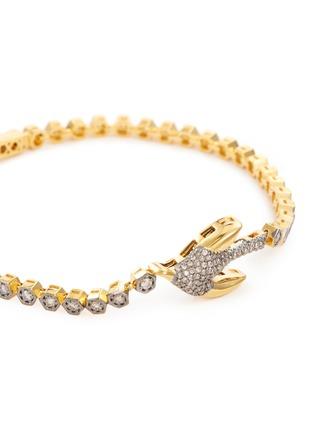 Hyeres Lor Colombe D Or Diamond 14k Gold Link Bracelet Women