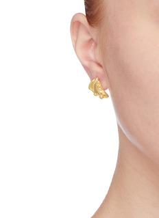 HYÈRES LOR 'Champagne Moon' diamond 14k gold earrings