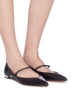 Aquazzura 'Stylist' knot strap leather flats