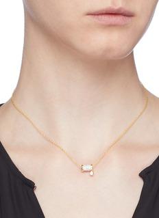 HEFANG 'Aurora' cubic zirconia spindle necklace