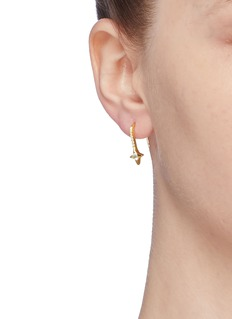 HEFANG 'Fairy' cubic zirconia star drop earrings