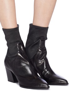 Pierre Hardy 'Rodeo' slanted heel ribbed leather ankle boots
