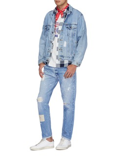 Atelier & Repairs Paint splatter mix patch ripped jeans