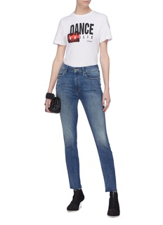 MOTHER 'Looker' frayed cuff skinny jeans