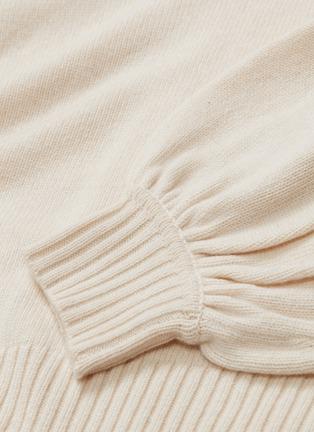 - Chloé - Balloon sleeve cashmere wool sweater