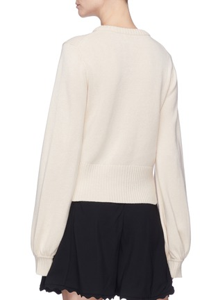 Back View - Click To Enlarge - Chloé - Balloon sleeve cashmere wool sweater
