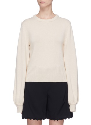 Main View - Click To Enlarge - Chloé - Balloon sleeve cashmere wool sweater