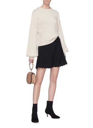 Figure View - Click To Enlarge - Chloé - Balloon sleeve cashmere wool sweater