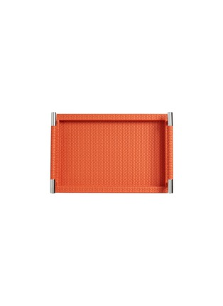 Detail View - Click To Enlarge - Pinetti - Dedalo small rectangle tray - Orange