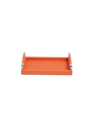 Main View - Click To Enlarge - Pinetti - Dedalo small rectangle tray - Orange