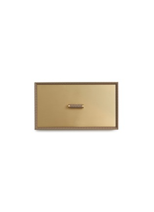 Detail View - Click To Enlarge - Pinetti - Rectangle leather box – Taupe