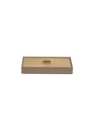 Main View - Click To Enlarge - Pinetti - Rectangle leather box – Taupe