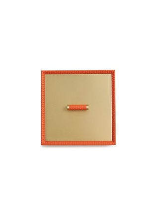 Detail View - Click To Enlarge - Pinetti - Square leather box – Orange