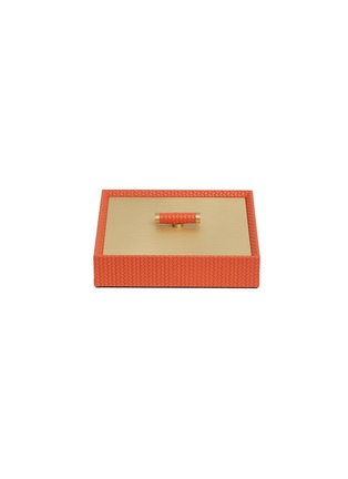 Main View - Click To Enlarge - Pinetti - Square leather box – Orange