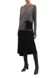 PHVLO Vest panel layered contrast pocket cardigan