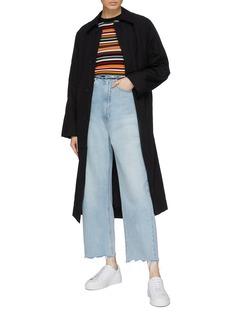 PHVLO Asymmetric pocket unisex coat