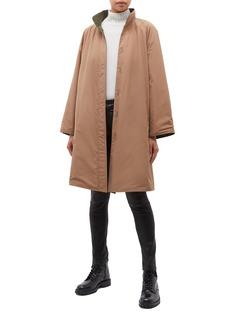 PHVLO Reversible slant button placket flap pocket coat