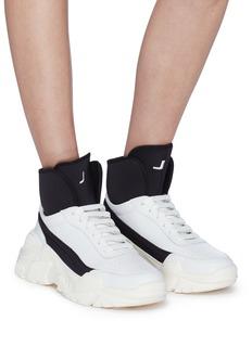 Joshua Sanders 'Zenith' neoprene collar chunky outsole leather sneakers