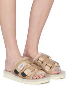 SUICOKE 'MOTO-VM2' strappy band suede slide sandals