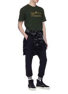Alexander Wang  'Platinum' slogan embroidered T-shirt