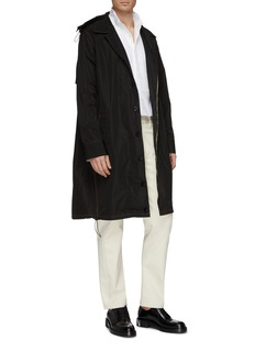 WALES BONNER Contrast topstitching nylon trench coat