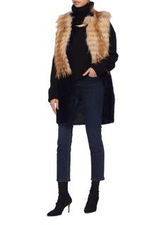 KARL DONOGHUE Fox fur panel lambskin shearling long gilet