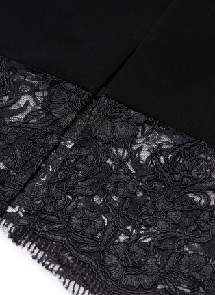 - ALICE + OLIVIA - 'Kim' Chantilly lace panel dress