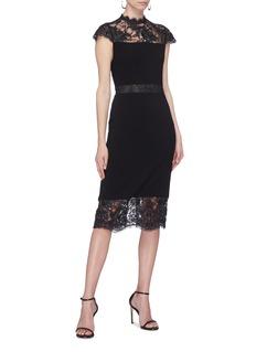 alice + olivia 'Kim' Chantilly lace panel dress