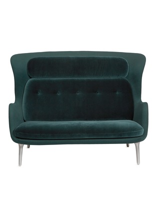 Main View - Click To Enlarge - Republic of Fritz Hansen - Ro™ 2-seater sofa – Green