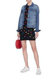 alice + olivia 'Hayden' star intarsia knit dress