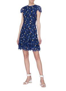 alice + olivia 'Imani' floral guipure lace dress
