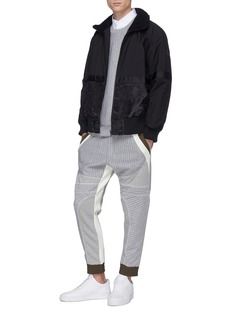MASSBRANDED 'Biker' colourblocked quilted sweatpants
