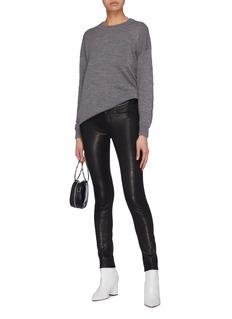 alice + olivia 'Quintin' metal bar sleeve wool sweater