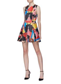 alice + olivia 'Stasia' Stacey print pleated dress