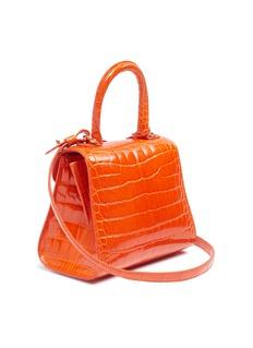 Delvaux 'Brillant Mini' patent alligator leather satchel