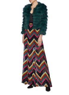 alice + olivia 'Athena' chevron stripe maxi skirt