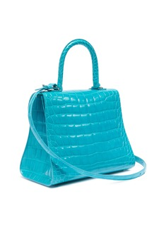 Delvaux 'Brillant MM' patent alligator leather satchel