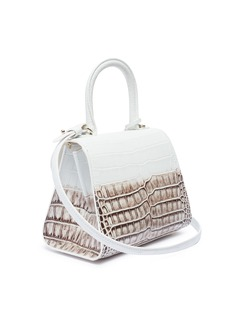 Delvaux 'Brillant Mini' dégradé patent alligator leather satchel