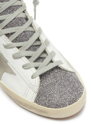 Detail View - Click To Enlarge - Golden Goose - 'Francy' bead leather high top sneakers