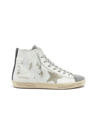 Main View - Click To Enlarge - Golden Goose - 'Francy' bead leather high top sneakers