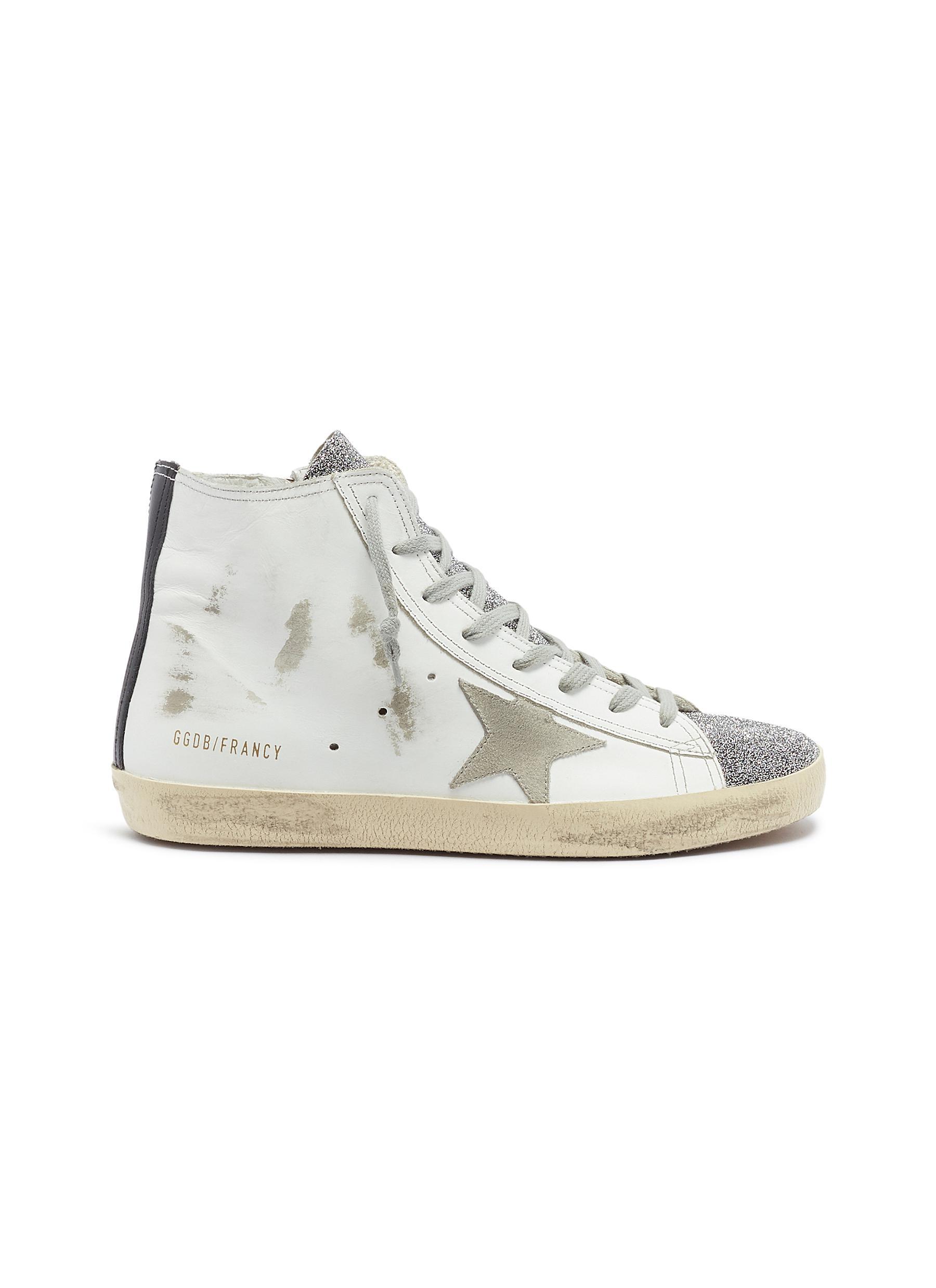 Golden Goose Sneakers Francy bead leather high top sneakers
