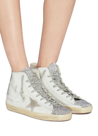 Figure View - Click To Enlarge - Golden Goose - 'Francy' bead leather high top sneakers